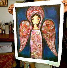 30 off Sale Entire Shop  Angel en Rosa Large Print by FlorLarios, $45.00