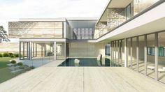 studio twist balances family and social life in shanghai garden villa - designboom Garden Villa, Facade House, Large Homes, Fairy Houses, Architectural Digest, Shanghai, Exterior Design, Interior Architecture, Luxury Homes