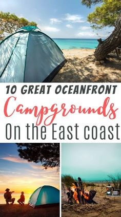 Solo Camping, Camping Spots, Beach Camping, Camping Meals, Family Camping, East Coast Beaches, East Coast Travel, East Coast Road Trip, Us Road Trip