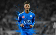 Download wallpapers Demarai Gray, 4k, soccer, Premier League, grunge, footballers, Leicester City
