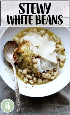 Marcella's Stewy White Beans (Brined not Soaked) | Alexandra's Kitchen