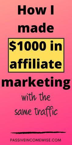 Last month I made my very first affiliate $1,000 blogging from home! I'm beyond excited for this achievement! It is amazing to get emails every now and then that says that I've made a sale, especially when they are overnight. When I wake up, the first thing I do in the morning is check my emails and I get so happy when I see I've made a sale (or more than one). In this post I show you how I made my very first $1,000 blogging from home. Make Money Blogging, How To Make Money, How To Get, Wake Me Up, Blogging For Beginners, Passive Income, Affiliate Marketing, Sayings, Lyrics