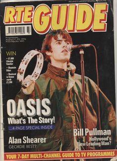 RTE Guide 1996  Oasis (2 copies) Bill Pullman, Oasis, Channel, Hollywood, Christmas, Xmas, Navidad, Noel, Natal