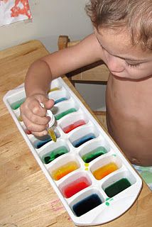 Mixing colors - the blogger has a few ideas here to keep little ones interested and sitting....