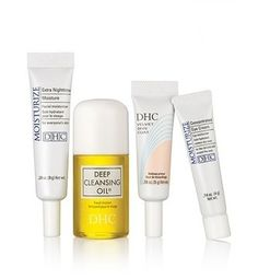 DHC Bestselling Beauty Essentials Travel Set features take-anywhere sizes of our all-star skincare beauty lineup, including Deep Cleansing Oil Mini, Velvet Skin Coat Mini, Concentrated Eye Cream Mini and Extra Nighttime Moisture Mini. Beauty Essentials, Travel Essentials, Dhc Skincare, Deep, Mini Makeup, Bath And Beyond Coupon, All I Ever Wanted, Makeup Primer, Travel Set