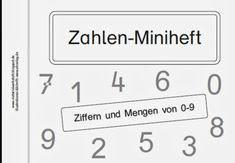 Zahlen-Miniheft Teil 2 – Materialwerkstatt - New Site Education Major, Elementary Education, Education Quotes, High School Classroom, Special Education Classroom, Primary School, Early Intervention Program, Self Contained Classroom, Student Information