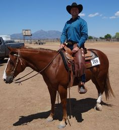 My favorite picture of Hank and I showing in RR at Sonoita 2016.