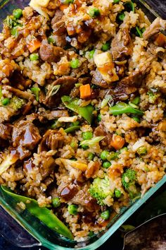 Our VIRAL recipe for Teriyaki Chicken Casserole still goes crazy on our site every single month, but don't we need a Teriyaki Beef Casserole too? Teriyaki Chicken Casserole, Easy Teriyaki Chicken, Beef Casserole Recipes, Beef Recipes, Cooking Recipes, Freezer Recipes, Teriyaki Sauce, Freezer Cooking, Freezer Meals