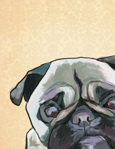 Quick pug drawing I did for my friend Amy.