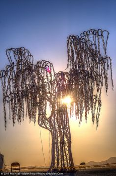 """Aurora"" by Charles Gadeken  st Sunrise / As installed at Burning Man 2011 / Nevada, USA"