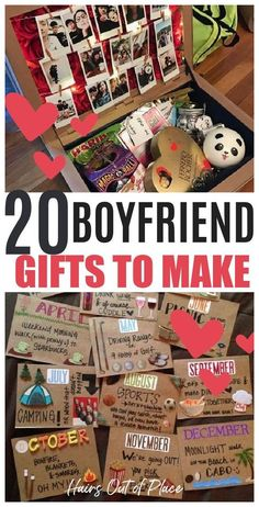 Cute Gifts For Your Boyfriend, Birthday Gifts For Boyfriend Diy, Christmas Ideas For Boyfriend, Handmade Gifts For Boyfriend, Diy Gifts For Him, Easy Diy Gifts, Boyfriend Birthday Ideas Creative, Diy Romantic Gifts For Him, Diy Gifts For Boyfriend Christmas