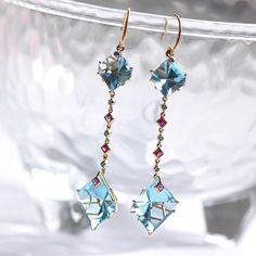 Those baby blue Topaz hues Blue Topaz earrings by Ricardo Basta Fine Jewelry - statement earrings #ricardobasta #aotd #earrings