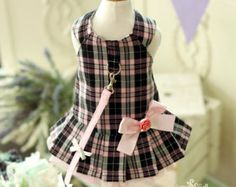 Bebeati  Designer Handmade Short Harness Leash Set for by JunyBell