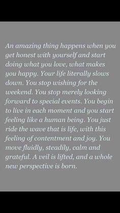 Becoming Minimalist quote: beautiful mindfulness, contentment.