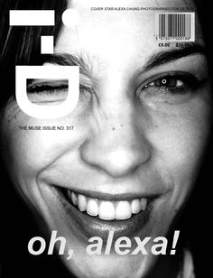 Alexa Chung on the cover of i-D magazine.