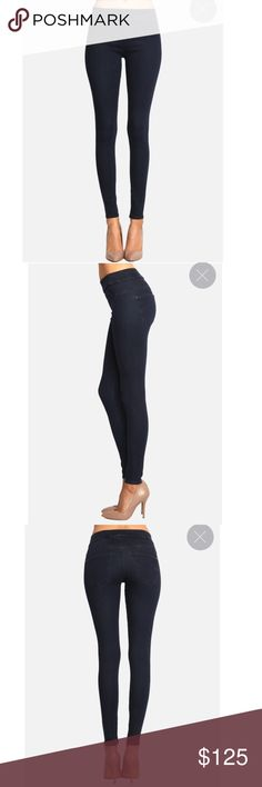 """James Jeans Twiggy Slip-On Jegging in Blue Velvet James Twiggy Slip-On Blue Velvet Pull-On Legging. With all the look of a classic James Twiggy, the Slip-On allows for ultimate comfort and fit with its elastic waistband and faux front pockets. Blue Velvet is our most comfortable and flattering shade of blue yet and surely to be the pair you reach for every day! Made in America. MSRP $167.00. Size & Fit: Front Rise: 8.75"""", Back Rise:13"""", Hem: 10"""", Inseam 29~30"""". Fabric Contents…"""