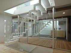 Steel staircase in Japan