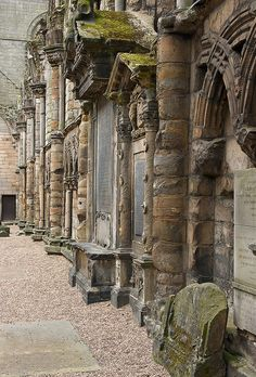 Holyrood Abbey Edinburgh doesn't look very alive here, but it was