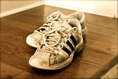 Dusty Old Adidas Sepia Sneakers - 8x10 - Photograph for sale by PickaPic on Etsy.  Available in other sizes!!!!