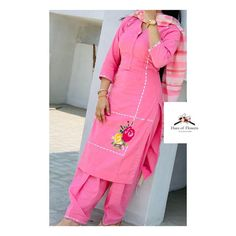 Embroidery Suits Punjabi, Embroidery Suits Design, Flower Embroidery Designs, Designer Punjabi Suits, Indian Designer Wear, Girls Fashion Clothes, Girl Fashion, Fashion Outfits, Indian Suits