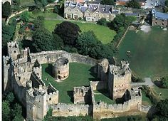 Ludlow Castle, Shropshire, England; built at the end of the 11th century; throughout most of the 16th and 17th centuries, Ludlow Castle was used by the King and Queen