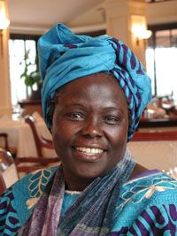 Wangari Maathai, strong and passionate woman led the way in getting women in her native Kenya to reforest large parts of their country.