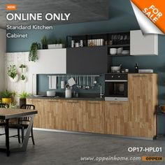 View our Laminate Kitchen Cabinets online today to find great deals! OPPEIN is the leader in quality Laminate Kitchen Cabinets design and manufacturing in China. We provide customized design, fast delivery and local after sales service. Decorating Above Kitchen Cabinets, Small Kitchen Cabinets, Kitchen Redo, Kitchen Ideas, Hanging Cabinet, New Cabinet, Cabinet Design, Kitchen Design, Kitchen Interior