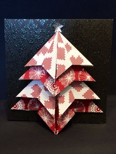 Christmas Card - Handmade Origami Christmas Tree Card on Etsy, £2.99