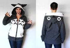 Toto Handmade AntiPill Fleece Hoodie / por RaritysBoutique en Etsy, $200.00