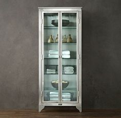 Glass Cabinets for a Chic Display. industrial cabinet