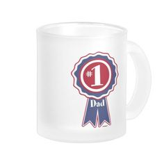 #1 Dad - Happy Father's Day Mug    •    Fahmi from France, Thank you for your purchase!   •   This design is available on t-shirts, hats, mugs, buttons, key chains and much more   •   Please check out our others designs at: www.zazzle.com/ZuzusFunHouse*