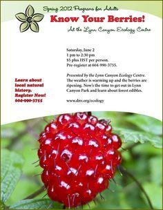 Lynn Canyon Ecology Centre - berry, herb and mushroom walks
