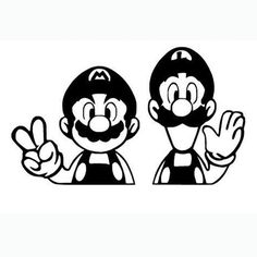 Mario Bros Laptop Car Truck Vinyl Decal Window Sticker PV306