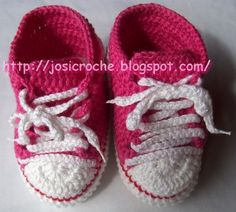 Free Pattern: converse tennis shoe bootie--english translation at bottom of page