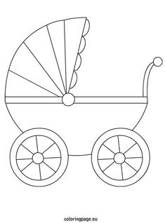 Baby Carriage Coloring Pages Moldes Para Baby Shower, Regalo Baby Shower, Baby Shower Cards, Baby Shower Parties, Baby Boy Shower, Baby Embroidery, Embroidery Patterns, Baby Decor, Baby Shower Decorations