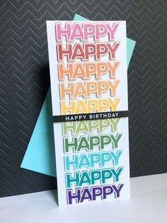 I'm in Haven: Happy x 10 Birthday Birthday Msg, Happy Birthday Cards, Rainbow Card, Wink Of Stella, Scrapbook Cards, Scrapbooking, Card Sketches, Card Tags, Stamping Up