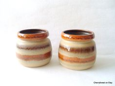 Vintage ceramic kitchen storage jars by Haldensleben VEB, East Germany, Mid Century Modern living by Cherryforest on Etsy