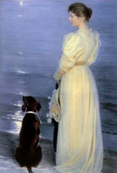 Peder Severin Krøyer (Norwegian-born Danish artist, 1851-1909) The Artist's Wife 1892