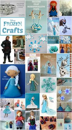 A great collection of Frozen crafts all in one location!