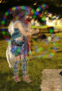 Glowing poi at 3 wishes Faery festival