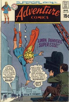 """This is two jobs for Supergirl! Kara is playing Linda playing Supergirl in a movie (at least according to the Swanderson cover story by Kanigher and Schaffenberger). Also: Supergirl is """"The Super-Exchange Student"""" by Bates, Mortimer and Abel."""