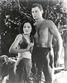 Tarzan and His Mate film, starring Johnny Weissmuller). This all-ages adventure, made in precode Hollywood, hints at conjugal bliss between Tarzan (Johnny Weissmuller) and Jane (Maureen O-Sullivan). Tarzan Series, Tarzan Movie, Maureen O'sullivan, Hollywood Stars, Classic Hollywood, Old Hollywood, Hollywood Glamour, Tarzan Of The Apes, Tarzan And Jane