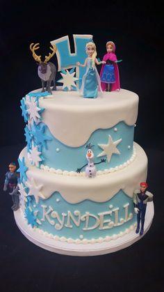 Cookie Jar Bakeshop I Frozen birthday cake I Elsa Olaf Ana I