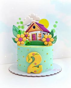 Cute Birthday Cakes, Birthday Parties, Sugar Cake, Little Cakes, Drip Cakes, Polymer Clay Crafts, Cake Shop, Baby Shower Cakes, Themed Cakes