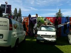 Finishing touches going up. #SpokaneHoopfest