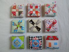Scrappy Pincushions by lieblingsstück**, via Flickr