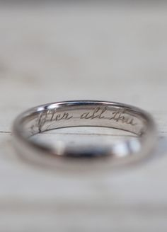 Engraving wedding ring inspiration