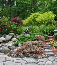 Three Dogs in a Garden: The Sperling Garden, Hamilton Ontario