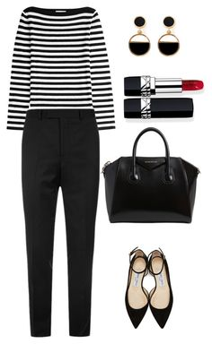 """""""Business outlook #4"""" by neringa-janulaite on Polyvore featuring Michael Kors, Sandro, Jimmy Choo, Givenchy, Warehouse and Christian Dior"""