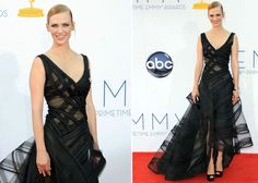 Emmy Awards: Lady in black January Jones stole our hearts in a Zac Posen gown.